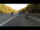 В Башкирии три скейтера на «Тещином языке» устроили гонки с фурой