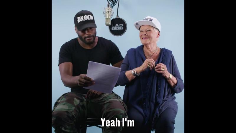 Джуди Денч читает рэп вместе с британским исполнителем Lethal Bizzle
