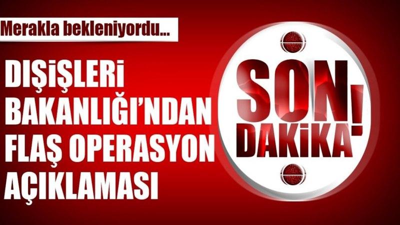Türkiyeden Amerikanın Suriyeyi Vurması Üzerine Açıklama Geldi Memnuniyetle Karşılıyoruz