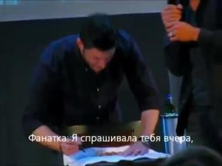 Дженсен корчит рожи за спиной Миши [rus subs].mp4