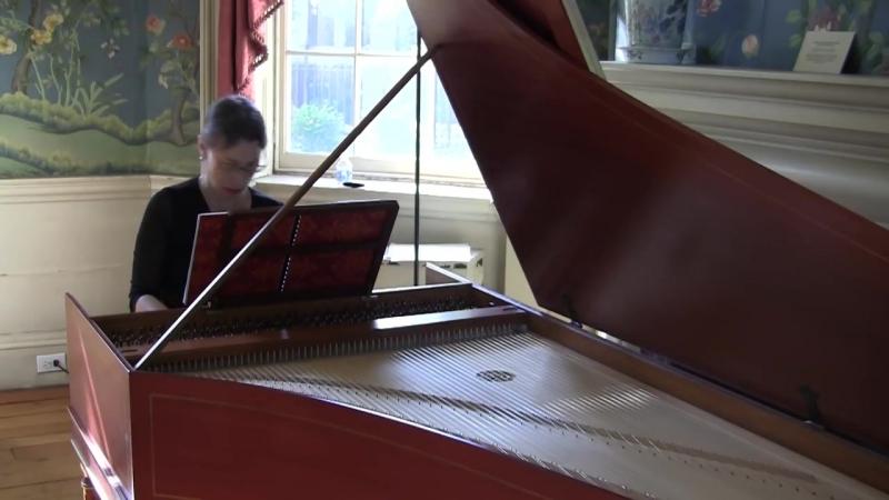 Johann Ludwig Krebs - Allemanda from the Partita in E-flat Major - Rebecca Pechefsky, harpsichord