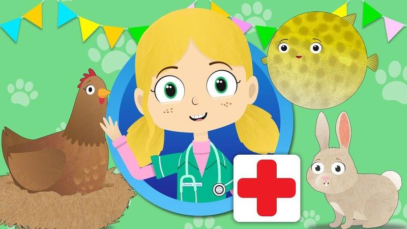 Henrietta Hen Visits Dr Poppy's Pet Rescue | Animals For Kids