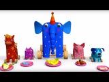 Деревяшки - Угощение - Серия 17 - развивающие мультики для малышей