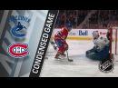 01/07/18 Condensed Game: Canucks @ Canadiens