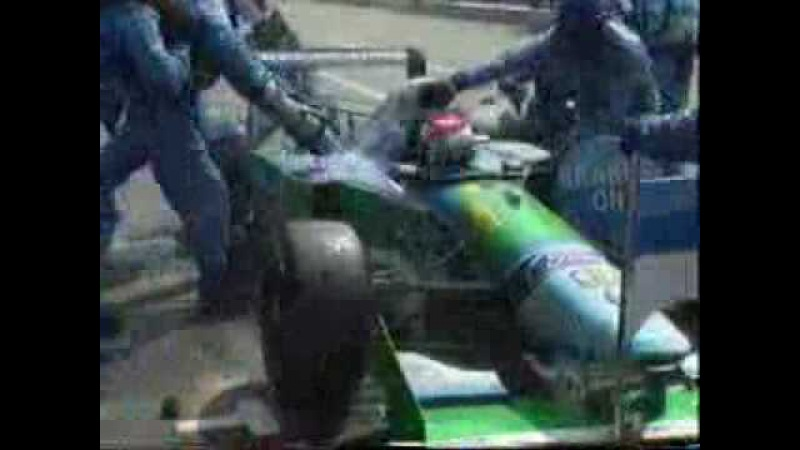 Jos Verstappen pitstop gone wrong German GP 1994