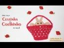 Cestinha com Coelhinho de crochê - Artes da Desi