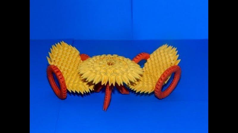 3D Origami chair tutorial DIY paper chair