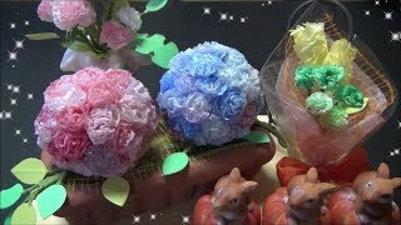 DIY ペーパーフラワーを作る方法 How to make a paper flower