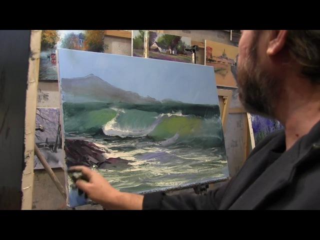 Игорь Сахаров, научиться писать морской пейзаж маслом