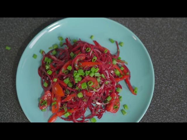 Рецепт салата Красный бархат   Веган-гурман