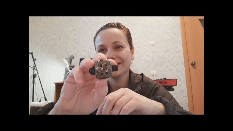 Шпионская мини камера с Aliexpress селфи пульт педаль