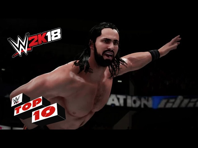 Ridiculous Elimination Chamber Dives! WWE 2K18 Top 10