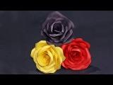 Роза из бумаги-это просто! Поделки из бумаги