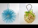 2 Идеи елочных игрушек. Новогодние поделки