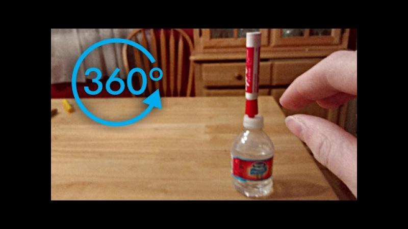 360 VR Water Bottle Flip Trick Shots!! - 360 Degree Video VR | 4K