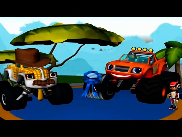Blaze and The Monster Machines Race on the route with obstacles Games for kids