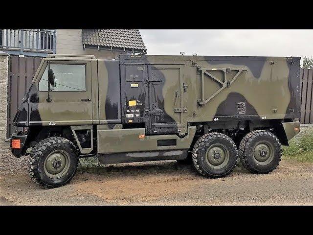 BUCHER DURO 6x6 аналог ГАЗ 330811 ВЕПРЬ вездеходный цельнометаллический фургон гп 2 0 т