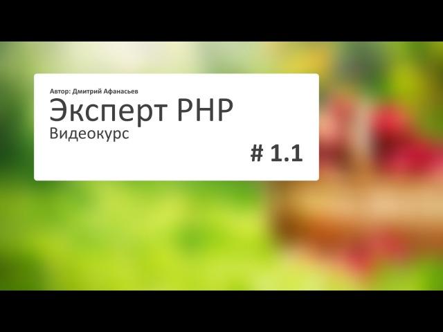 1.1 Эксперт PHP Создание домена и структуры сайта - видео с YouTube-канала Dmitry Afanasyev