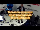 Программные пункты программы Грудинина П Н озвучивает Болдырев Ю Ю