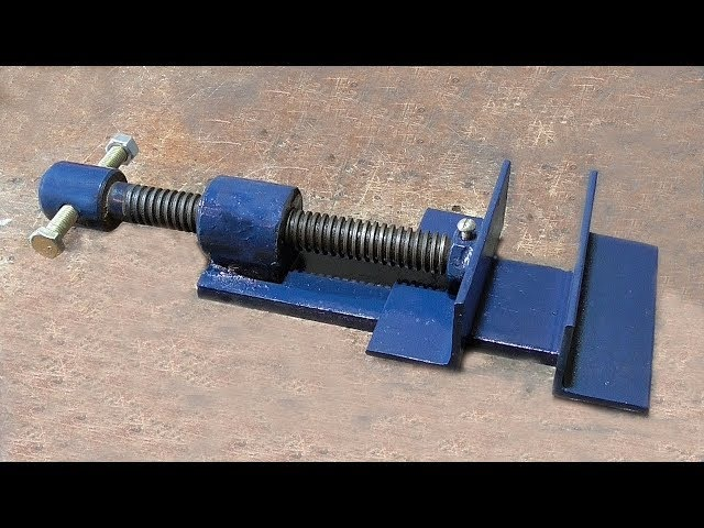 Make A Metal Mini Drill Vise   DIY HomeMade Tool