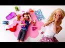 Видео для девочек. Игры с куклами Барби отдыхает с подругами. Папа не справляет ...
