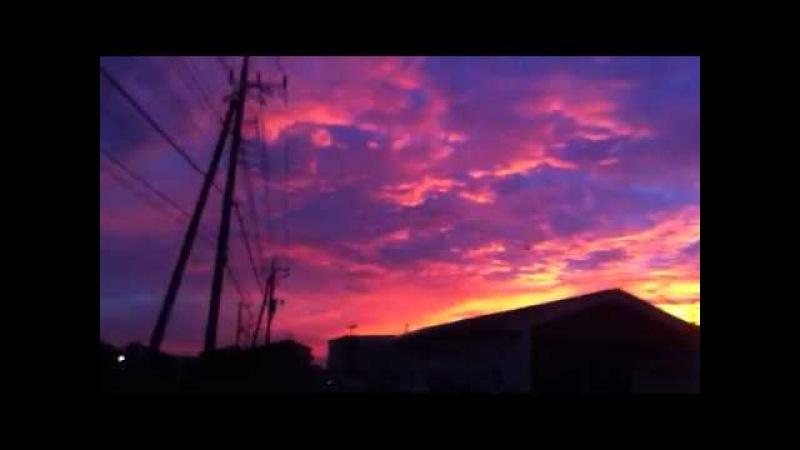O nascer do sol as 5:50 do Japão que coisa linda