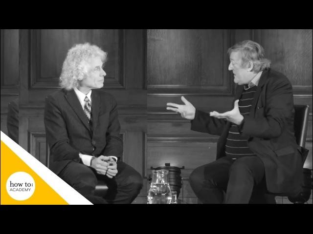 Stephen Fry Steven Pinker on the Enlightenment Today