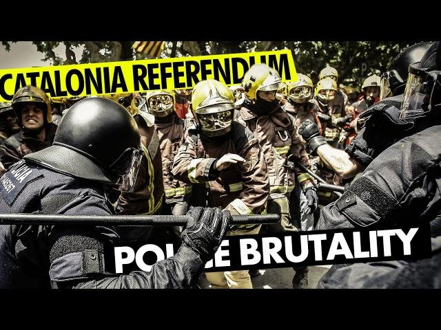 Каталония. Местные пожарники и часть местных полицейских вышли в форме , в касках, и выступили на стороне народа в защиту права голосовать. Firemen Protect Catalonian People from Brutal Spanish Police - Catalonia Referendum www.youtube.com/watc