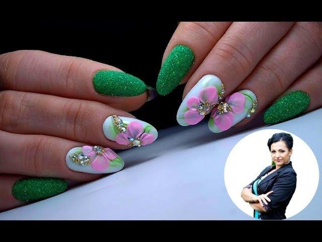 Крутой дизайн ногтей Цветок Лепка 4d гелями ТОП удивителные дизайны ногтей » Freewka.com - Смотреть онлайн в хорощем качестве
