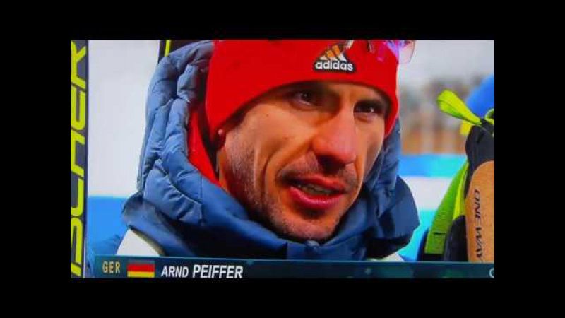 Olympia 2018 Biathlon Gold Arnd Peiffer Olympiasieger Interview