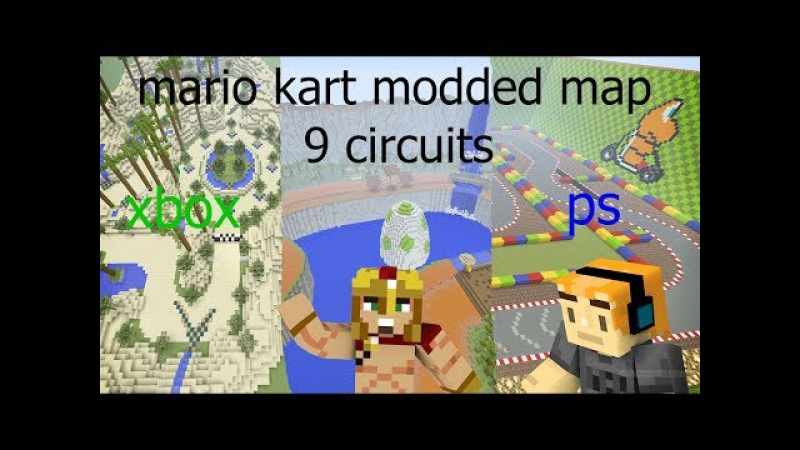 Minecraft XBOX/ps3/ps4 mario kart modded map download ( ft laser production)