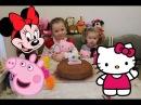 Hello Kitty День рождение в гостях Peppa Pig Minnie Mouse