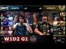 Giants vs Vitality   Week 1 Day 2 of S8 EU LCS Spring 2018   GIA vs VIT W1D2 G1