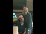 Леди Гага и Джастин Трантер в студии звукозаписи (15 мая)