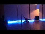 Christina Becker. Pole Dance. My improvisation. Work in favourite dancing studio