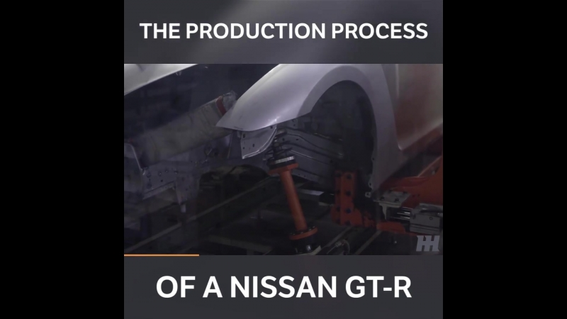 Production Process Of A Nissan GTR