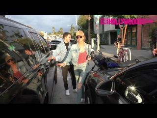 Romee strijd steps out for a double date lunch in between victorias secret phot.17