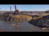 В Саратовской области размыло трассу