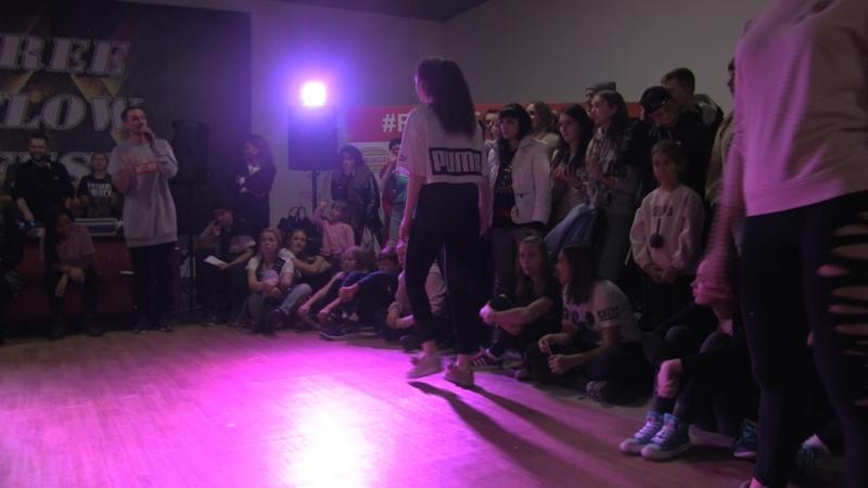 Free Flow Fest 2017. Dancehall pro 14. Лидос vs. Рябос vs. Катеринка