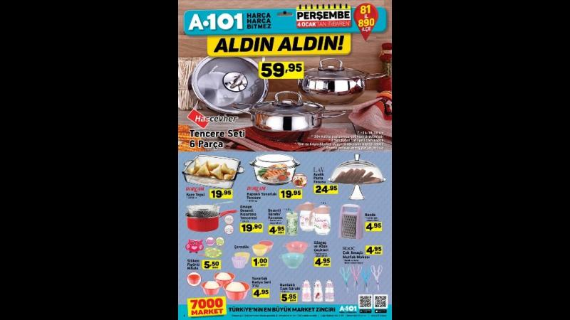 A101 4 Ocak 2018 - 11 Ocak 2018 Aktüel Ürünler Katalogu