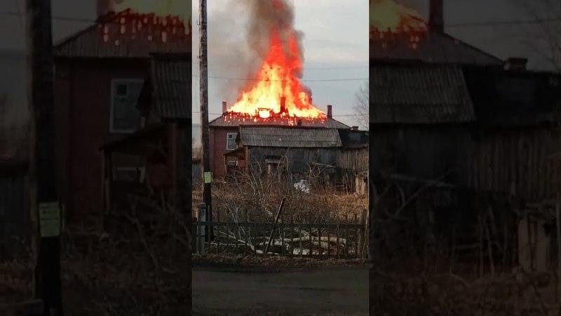 В Сторожевске сгорел дом