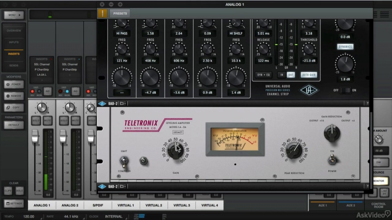 3. Inserts [Ask Video] Universal Audio 201: Learn The Mix Console UAD2 [2016, ENG]