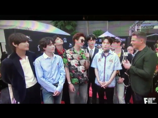180520 MikeAdamOnAir @BTS_twt talking about how amazing their BTSARMY on the BBMAs red car