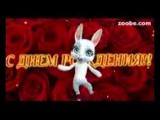 [v-s.mobi]Zoobe Зайка, красивое поздравление в день рождения любимому!.3gp