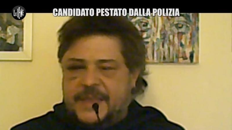 Il candidato Toni della Pia Pestato dalla polizia VIDEO - Le Iene