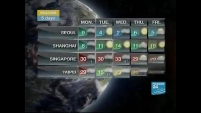 Прогноз погоды (France 24 [Франция], март 2010)