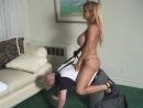 Busty Mistress rides Ponyboy in Livingroom