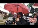 Não há chuva nem frio que pare estes guerreiros 58 de resistência dias bom dia presidente Lula