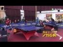 Юная спортсменка на равных играет с опытным теннисистом Недостаток физики компенсируется отличной техникой