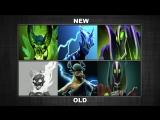 Dota 2 OLD Hero portraits VS NEW